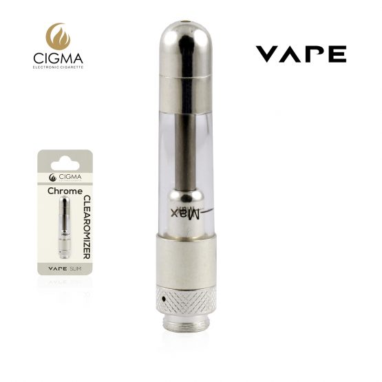 Cigma vape chrome clearomizer for slim