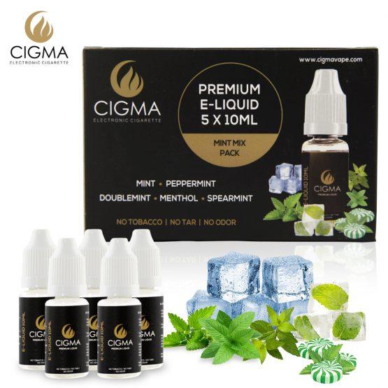 5 pack Menthe mix e-liquide