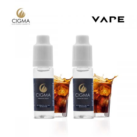 Cigma 2 x 10ml e liquid cola 2 pack 0mg