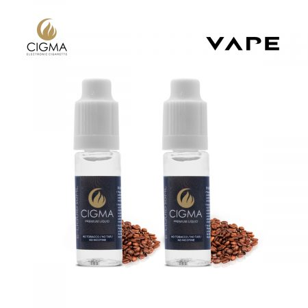 Cigma 2 x 10ml e liquid kaffee 2 pack 0mg