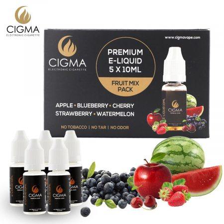 Cigma liquid 5 x 10ml mixed fruit 3