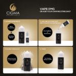 Cigma 100ml La glace menthe 0mg E-liquide - Bouteilles Shortfill sans nicotine - Eliquide Pour E-shisha et E-cigarettes